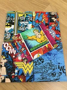 DC-Comic-Wonder-Woman-Superman-100-Cotton-FQ-Bundle-5-Fabrics-Craft-Quilting