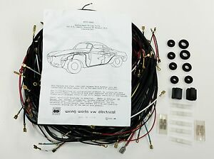 1968-1969 ALL Karmann Ghia VW COMPLETE Wiring Works Wire Harness Kit ...