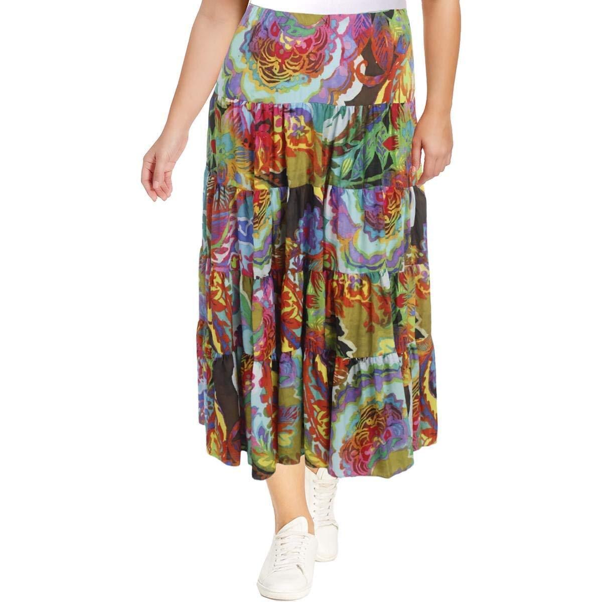 Lauren Ralph Lauren Floral Print Ruffle Skirt size 2XL