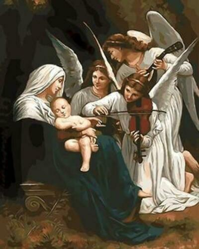 Song Of The Angels William Adolphe Bouguereau Painting Paint By Numbers Kit DIY