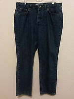 Faded Glory Womens Jeans Pants Size 16 Petite (36 x 28 1/2) Straight Leg Denim