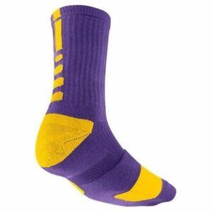 Farmacología cocaína colorante  Nike Elite Socks MEDIUM (Fits Men Size 6-8) Lakers Purple, Gold SX3693-517  | eBay