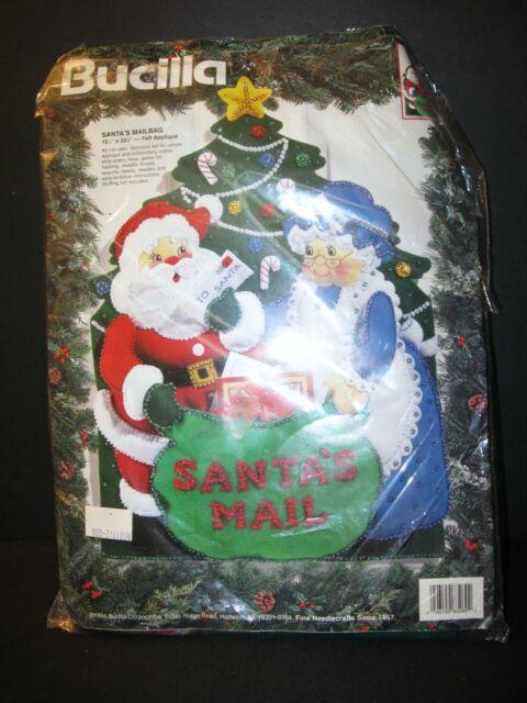 Bucilla Santa /& Mrs Claus ~ Felt Christmas Silverware Holder Kit #86310 6 Pces