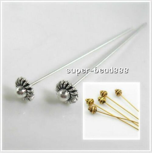 Free Ship 100pcs Tibetan Silver Gold Big Head Pins Needles For Jewelry Making