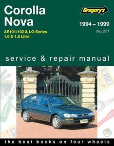 gregory s service repair manual toyota corolla holden nova 94 99 rh ebay com 1999 toyota corolla repair manual pdf 99 corolla repair manual pdf