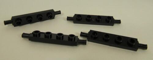 LEGO Parts~ Modified 1 x 4 w Wheels Holder 2926 BLACK LegoPlate 4