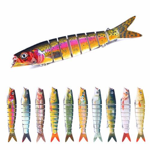 Lifelike Lure Swimbait Jointed Fishing Bait 13.5cm//21g Hard Crankbait 8-Section