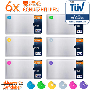 6x-RFID-Schutzhuelle-Blocker-Kreditkarte-EC-Karte-Schutz-NFC-Huelle-Schutzhuellen