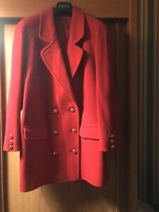 Austin Reed Ladies Coat Size 14 Red Ebay