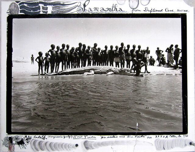 "PETER BEARD Signed Unique Original Photograph - ""Lake Rudolf (Ferguson's Gulf)"""