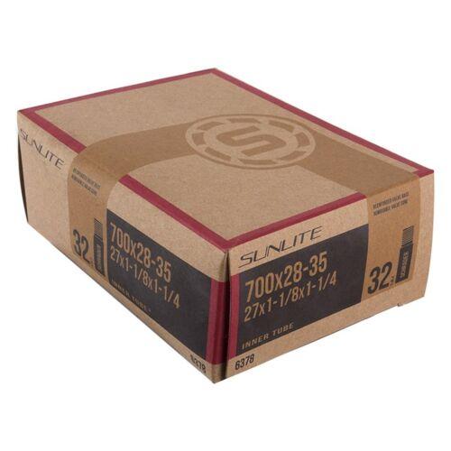 27X1-1//8X1-1//4 Sunlite Standard Schrader Valve Tubes 32Mm 700X28-35 - Sv