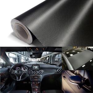 3D-Carbon-Fiber-Texture-Matte-Black-Vinyl-Car-Wrap-Sticker-Decal-Film-Sheet