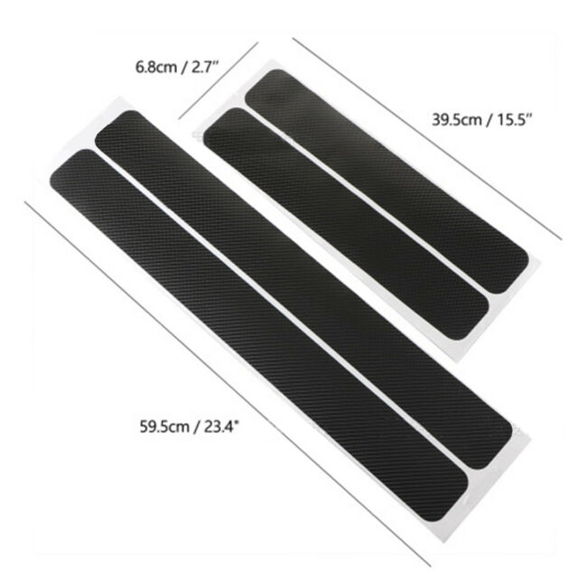4D Carbon Fiber Car Accessories Door Sill Scuff Protector Stickers 4Pcs #AM8