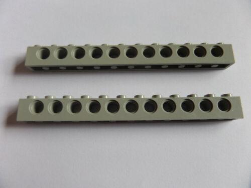 2x 3895 Lego Technic Lochstange 1x12 alt hellgrau light gray 4195006