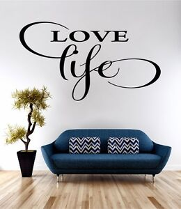 Love Life Wall Art Sticker Quote Decal Vinyl Transfer Bedroom Living