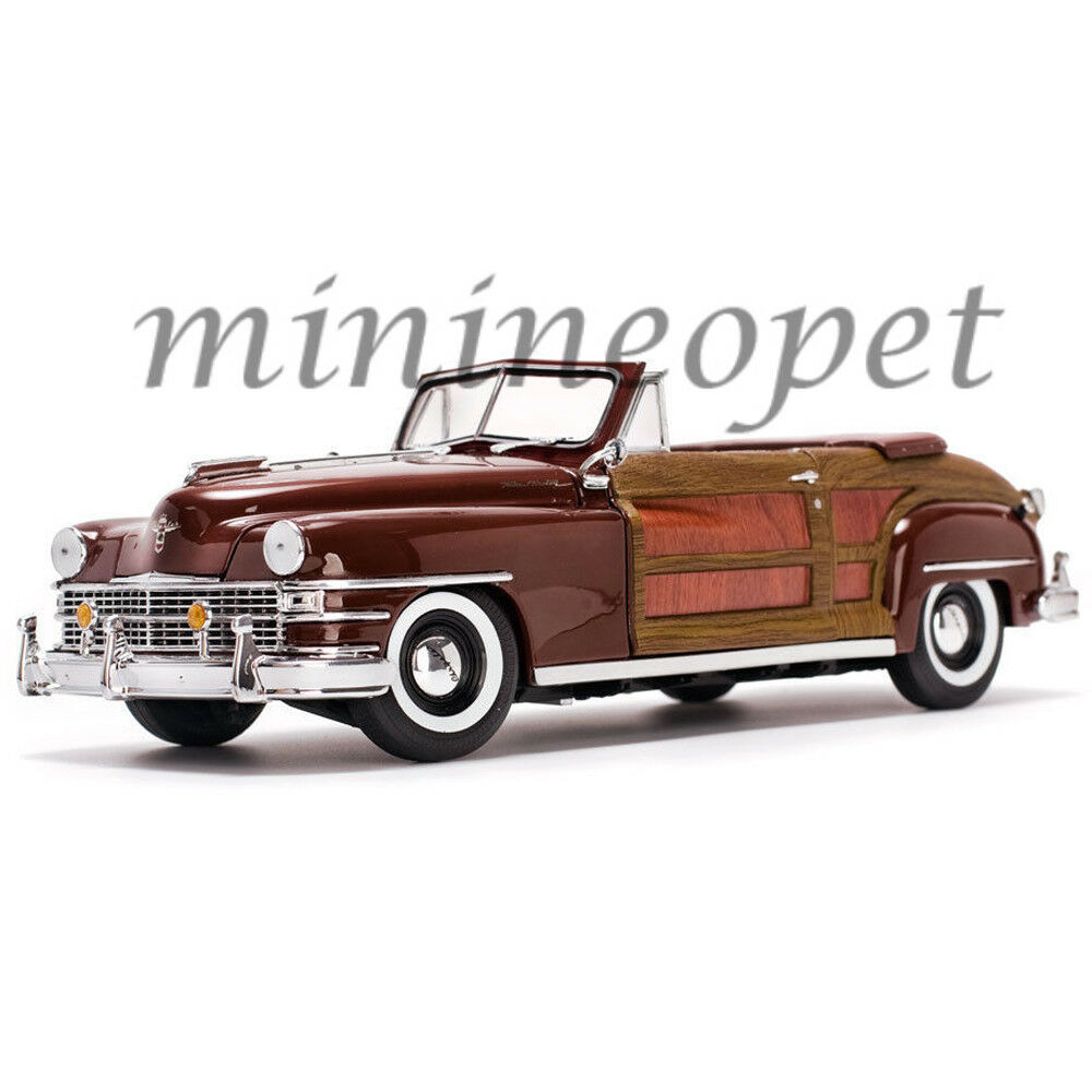 SUN STAR 6143 1948 Chrysler Town & Country 1 18 Diecast Voiture Modèle Marron