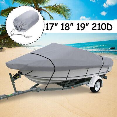 17-19ft 210D Heavy Duty Trailerable Waterproof Boat Cover Fishing Ski Bass Beam