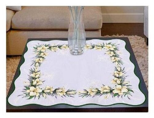 SQUARE TABLECLOTH TABLERUNNER LILY FLOWERS