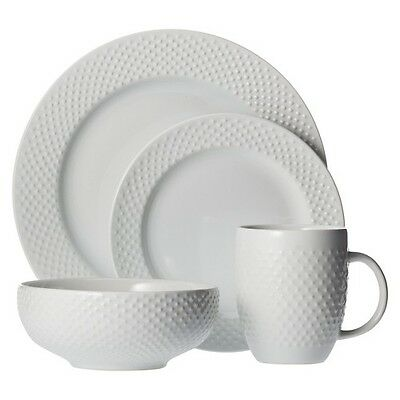 Threshold All Over Bead 16 Piece Dinnerware Set - White
