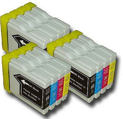 12 x LC980 Ink Cartridges Non-OEM Alternative For Brother DCP-165C, DCP165C