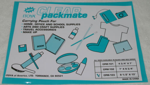 """4 pc Itoya 9 1//2/"""" X 13/"""" Clear Pack mate Home office School Arts Crafts CPM-103"""