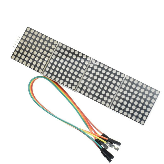MAX7219 Dot Matrix Module LED 4in1 Display Drive mit 5Pin 20cm Kable For Arduino