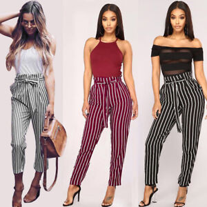 Women-High-Waist-Harem-Pants-Elastic-Waist-Straight-Solid-Casual-Loose-Trousers