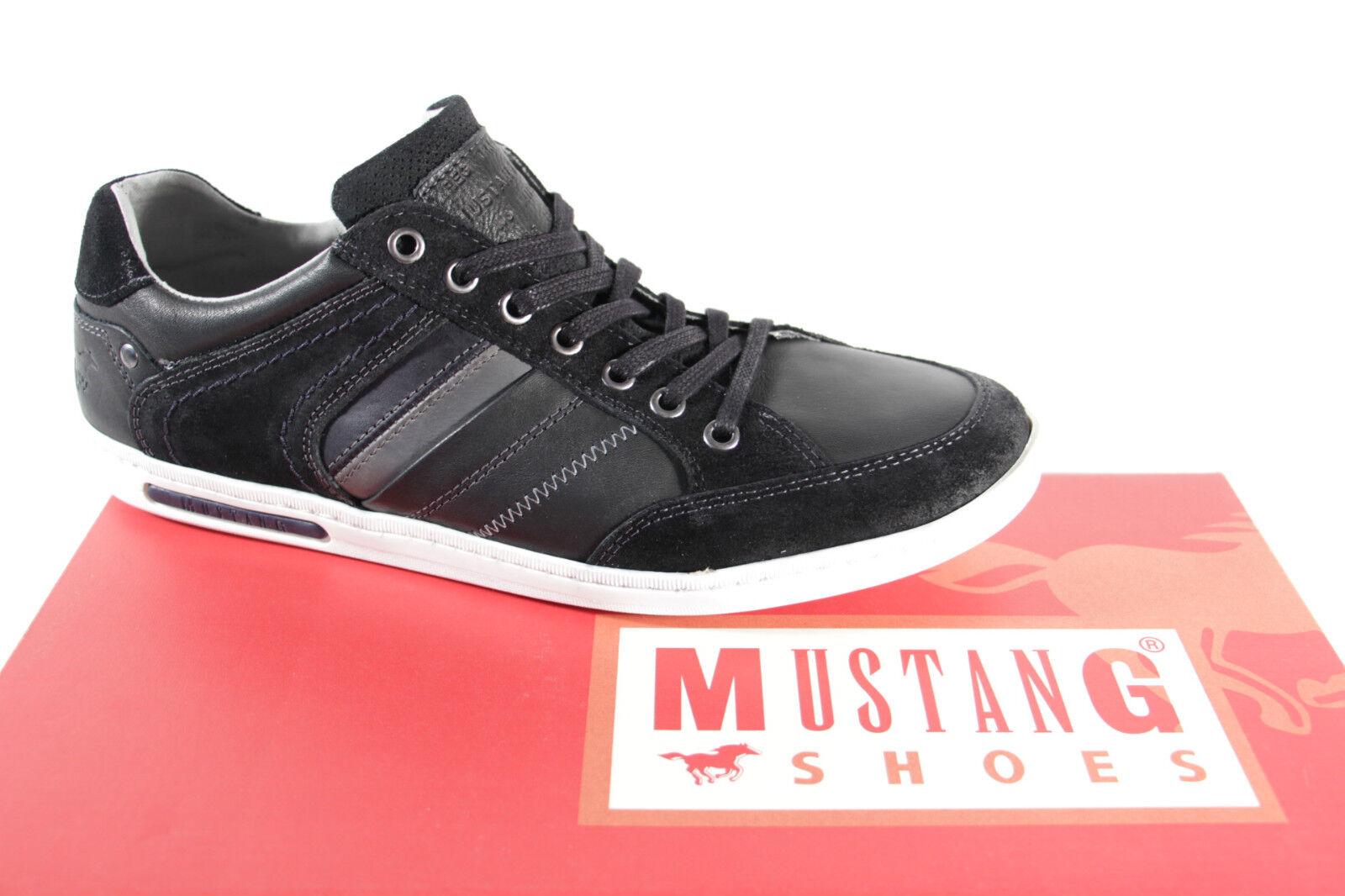 Mustang Herren Schnürschuhe Schnürschuh Sneakers Halbschuhe schwarz NEU