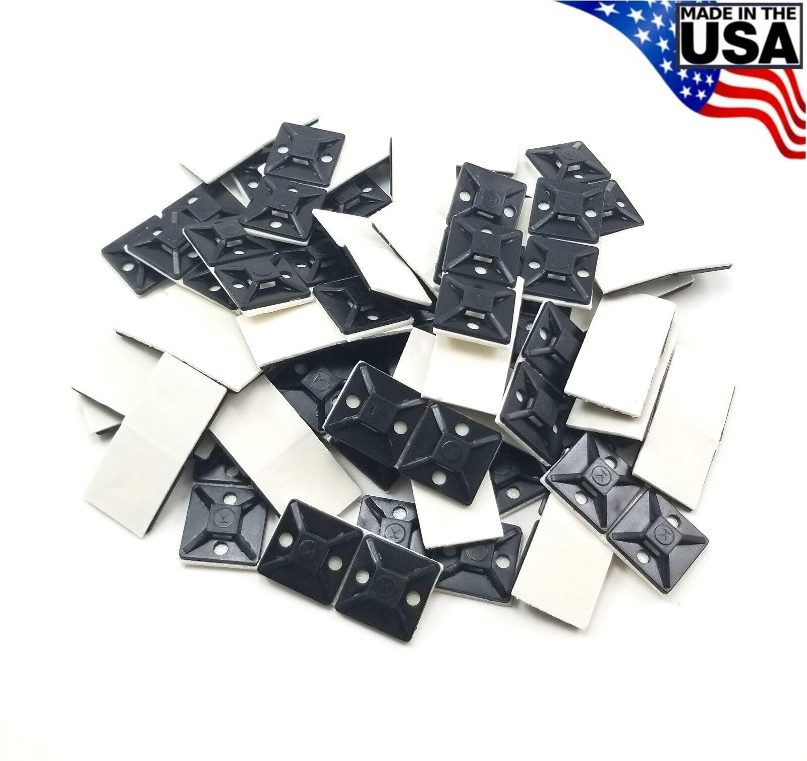"Thomas /& Betts TC5342A cable tie sticky backs 100qty 1 1//8""x1 1//8"""