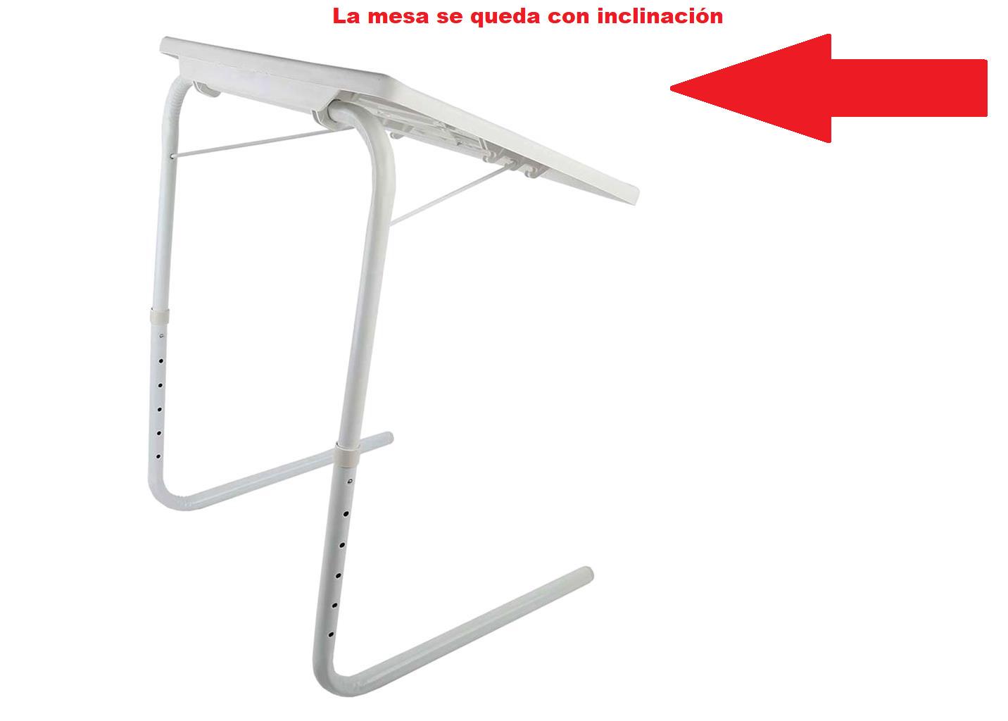 MESA PLEGABLE TABLE MATE PLASTICO PORTATIL ESCRITORIO SOFA VISTO EN TV NIVELES