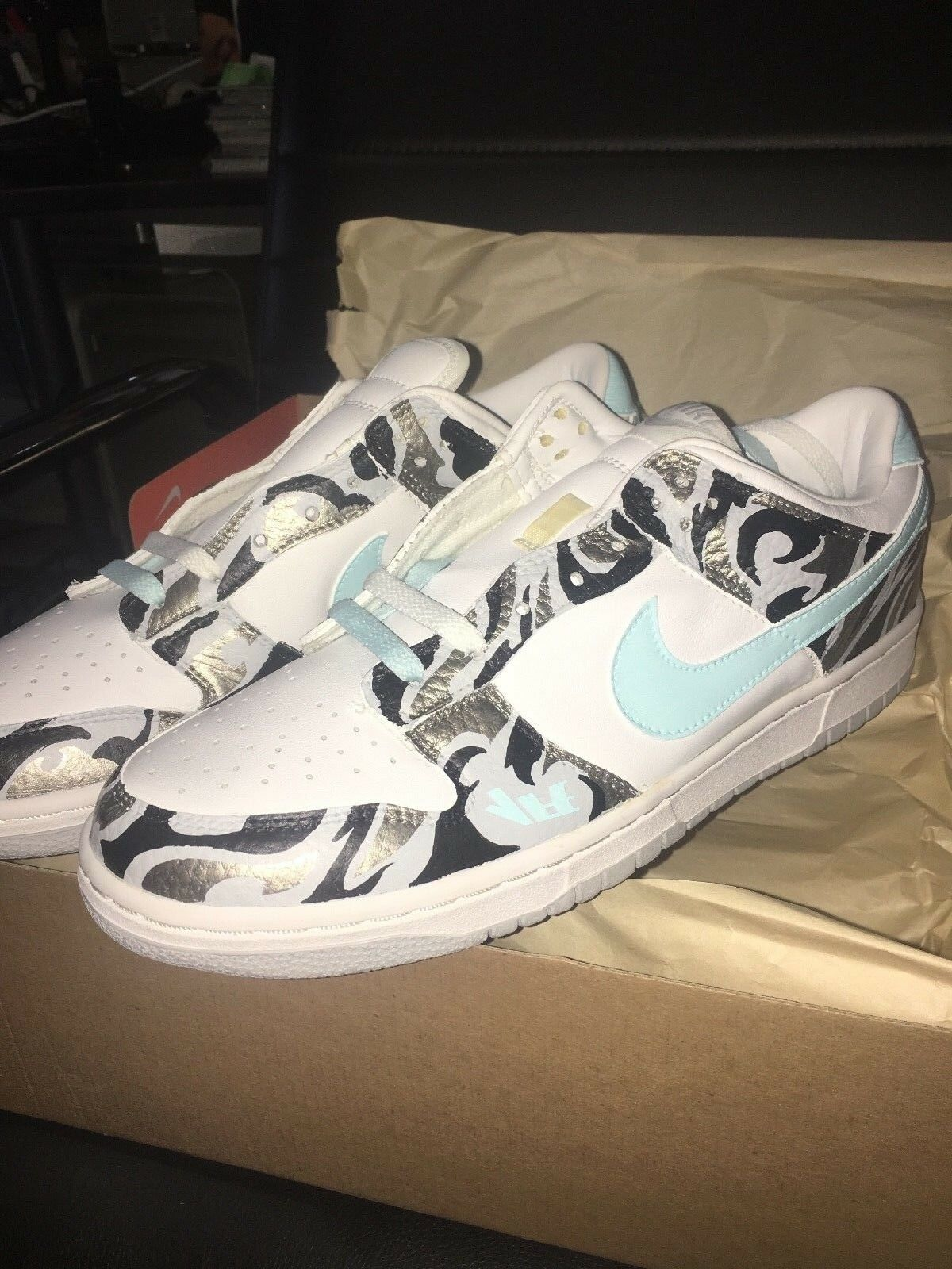 best sneakers bc43d 03da5 2003 Methamphibian x Undefeated x Nike Dunk Low Low Low AMC Size 10  Checkmate Custom d922b6