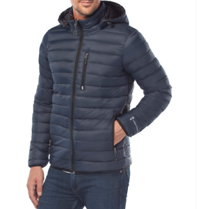 32a895079 Details about Free Country Men's Paragon Down Puffer Jacket Navy Size 2XL