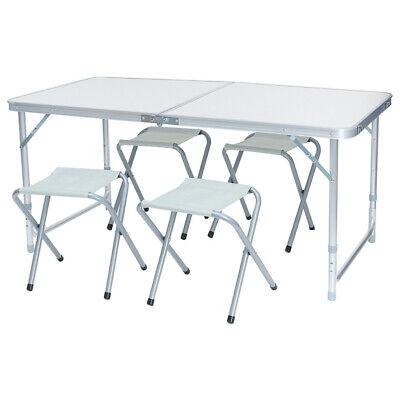 Brilliant Aluminum Folding Camping Picnic Table W 4 Seats Portable Set Outdoor Garden Sl Ebay Creativecarmelina Interior Chair Design Creativecarmelinacom