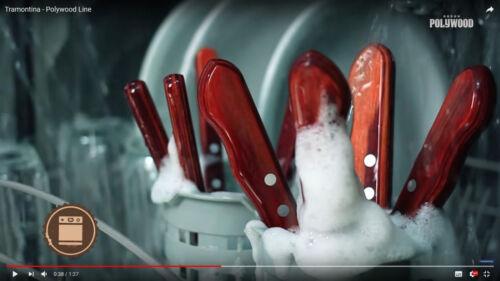 TRAMONTINA Steak Forks Set of 6pcs.Grill Kitchen Fork Wooden Handle 21102470//490