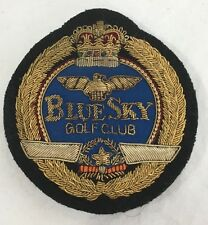 """Vintage Japanese WWII Military Pilots Association """"Blue Sky"""" Golf Club Patch"""