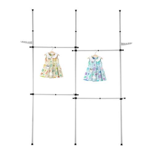 Teleskop Kleiderständer Wäscheständer Garderobenständer Kleiderstange Ständer