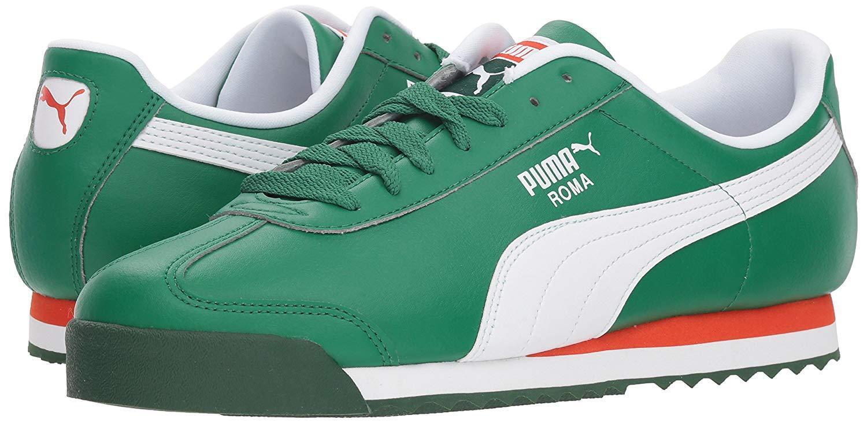 f763e703b5dc Puma Men s Roma Basic Basic Basic (VerdantGreen-Red) Classic Sneakers 9f72fb