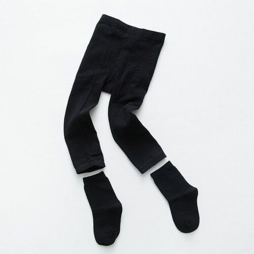 Kids Toddler Baby Girls Winter Thermal Thick Cotton Leggings Pants With Socks