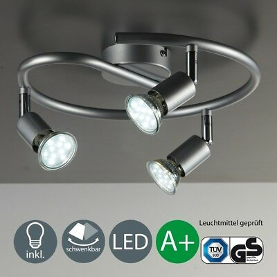 LED Deckenlampe Wohnzimmer Deckenleuchte Deckenspot Lampe Leuchte 3-flammig GU10