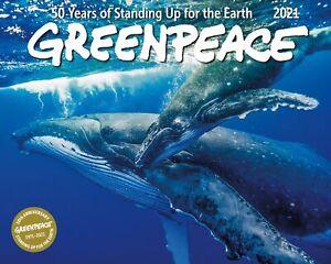 Greenpeace calendario de pared 2021, mensual Enero diciembre de 15