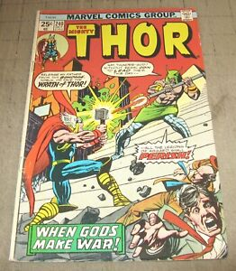 The Mighty THOR #240 (Oct 1975) Good Condition Comic - When Gods Make War