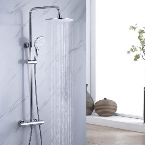 Duschsystem mit Thermostat Duscharmatur Duschset Regendusche Handbrause Chrom