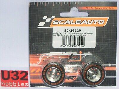 Scaleauto Sc-2422p Rad Schaum 26.2x16mm Felge 16x16mm Achse 3mm Alig.procomp 3 Elektrisches Spielzeug