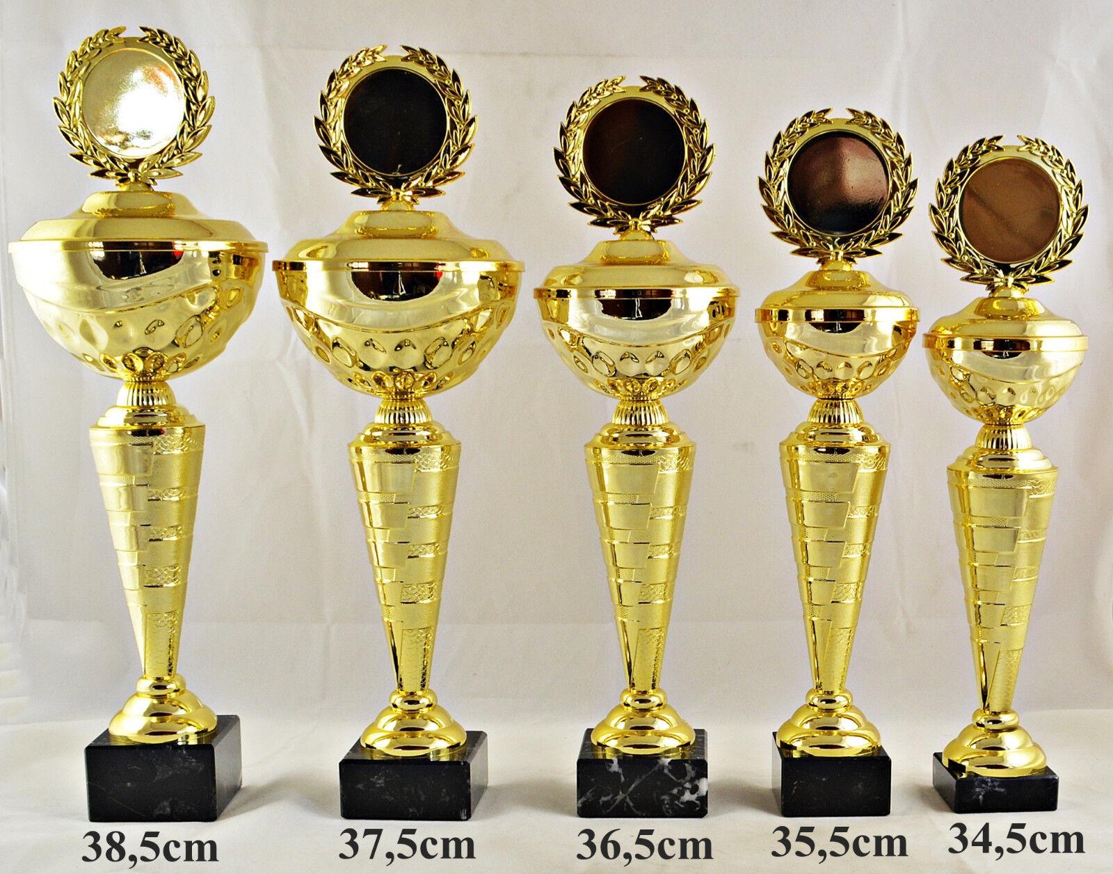 Pokal 1704 5er Serie oder Einzeln mit 50mm Emblem und Beschriftung