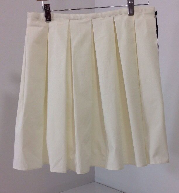 NWT RED VALENTINO PLEATED A-LINE MINI SKIRT CREAM US 6