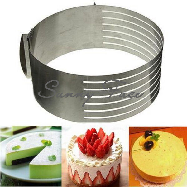 New Home Kitchen Stainless Layer Cake Slicer Mold, Lifter Tools, knife box