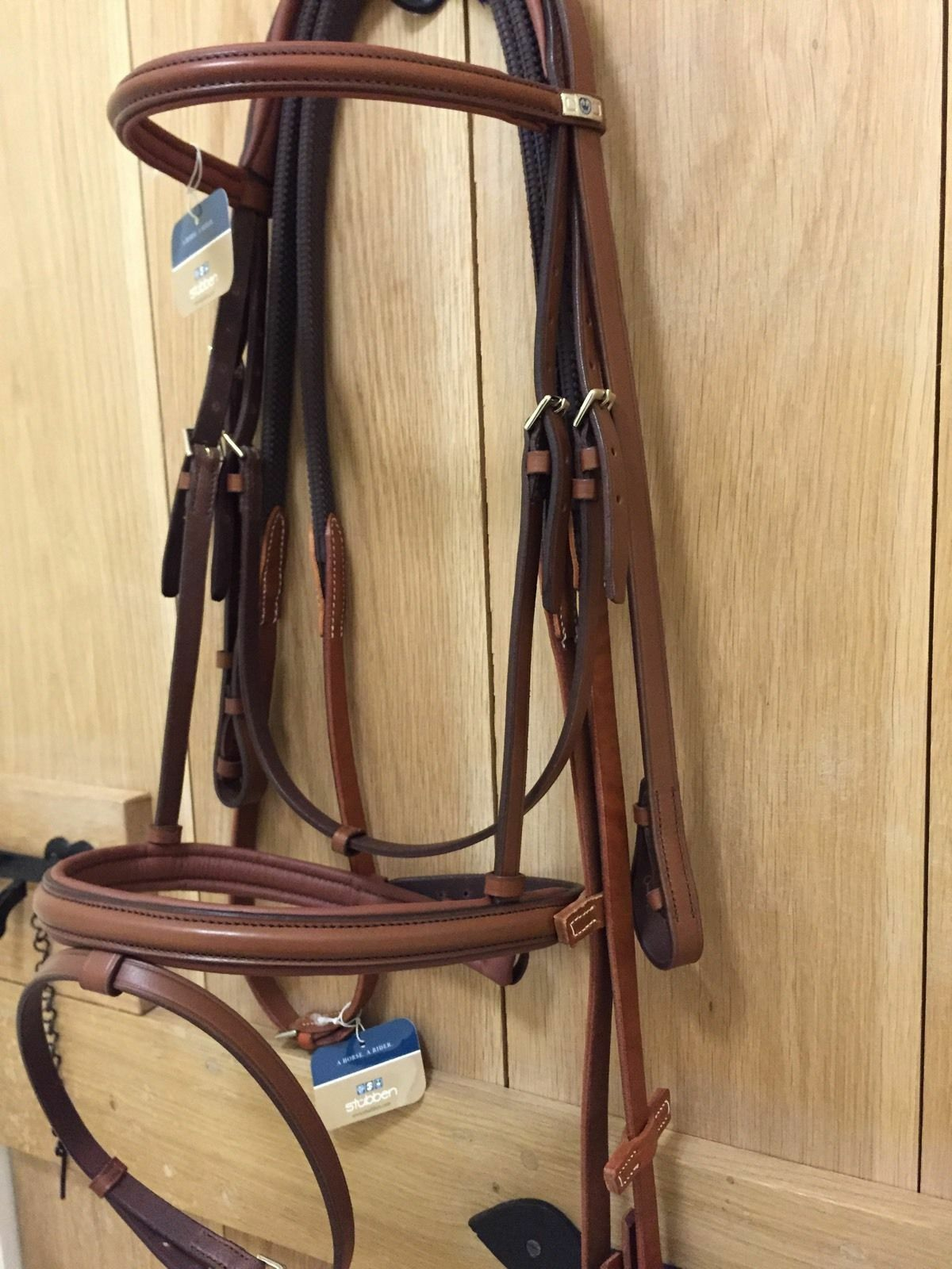 STUBBEN 2300 Leitrim COMFORT PADDED CROWN Ergonomic Bridle TOBACCO &  RUBBER REIN  clearance up to 70%