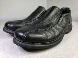 rockport size 12 mens black leather slideon business