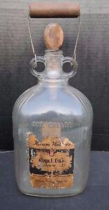 Vintage 1900 S Hiram Walker Royal Oak Bourbon Whiskey One