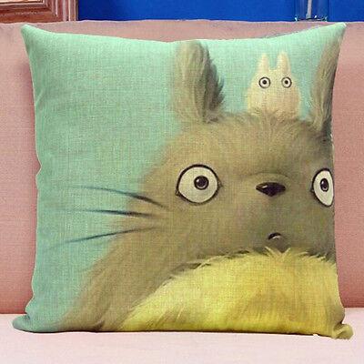 Cartoon Chubby Totoro Cotton Linen Pillow Cover Sofa Cushion Cover Home Decor